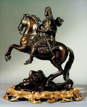 Elector Maximilian II Emanuel of Bavaria on Horseback, 1707, Roger Schabol, after a model by Desjardins