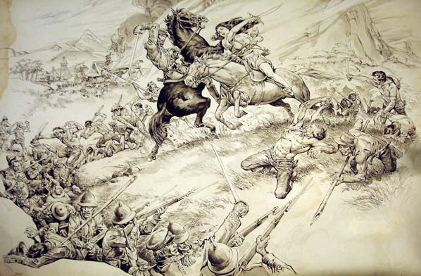 Gabriela Silang fighting against Spanish forces, ?, Francisco V. Coching (1919 – 1998), Philippines