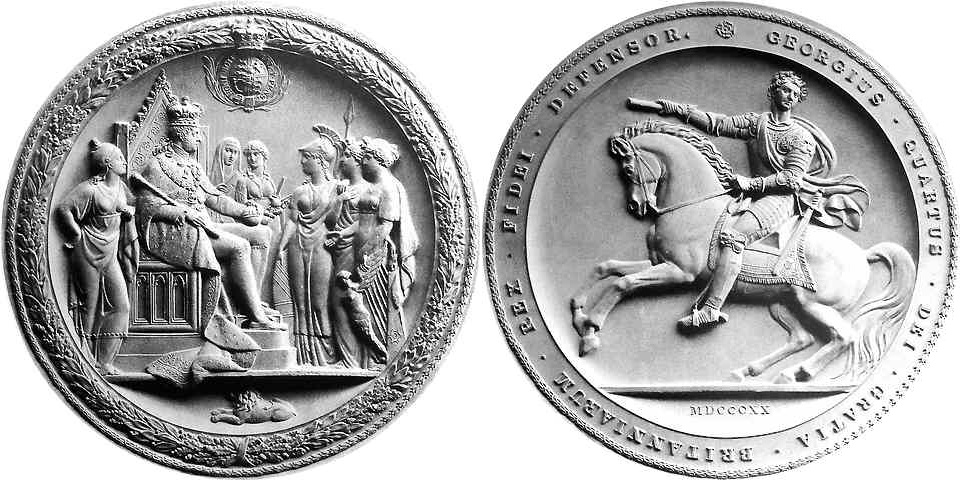 First seal of George IV (17 Sept 1821 - 31 Aug 1831)