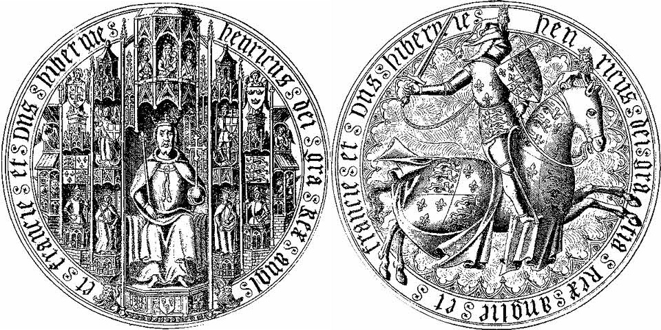 Gold seal of Henry V (1413-22)