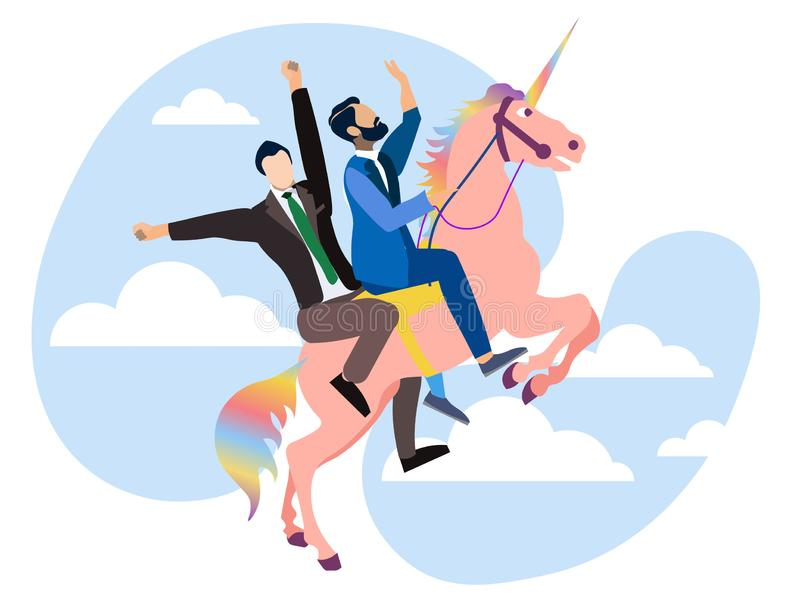 Gay couple riding a unicorn, Pishit Kamsink, 2010s