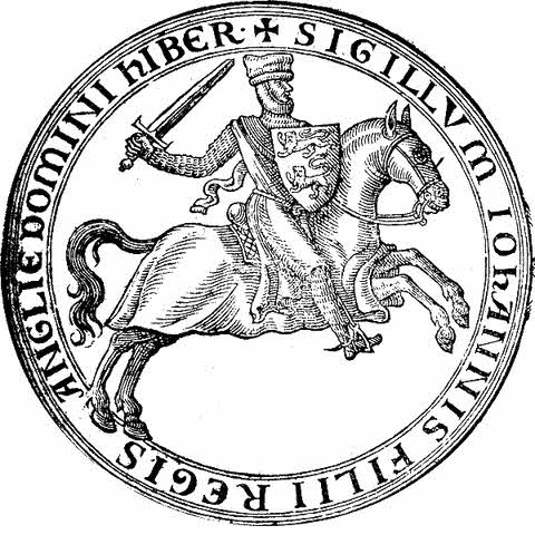 Seal of John Lackland before he became King (1177-1199)