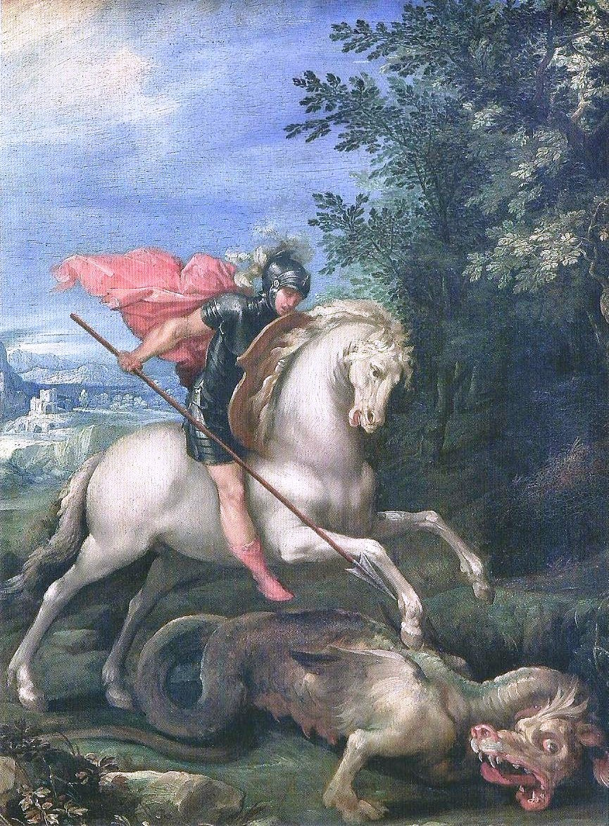 Saint George killing the dragon, cr. 1600, Giuseppe Cesari, Rome, Italy