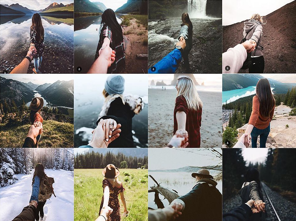 Ladies leading by the hand into the wild by various Instagram users