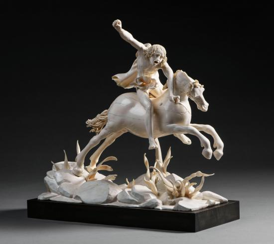 Fury on a Charging Horse, 1610, Furienmeister, probably Salzburg, Austria