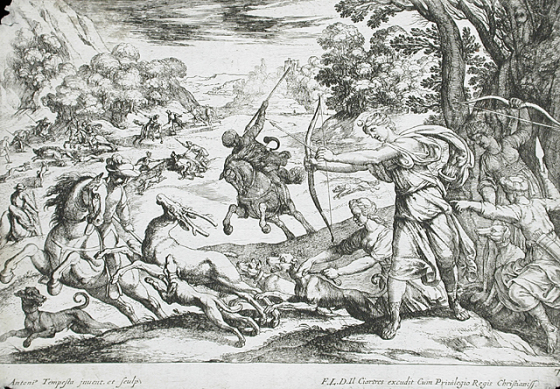 Stag Hunt, 1570-1600, Antonio Tempesta, Florence, Italy