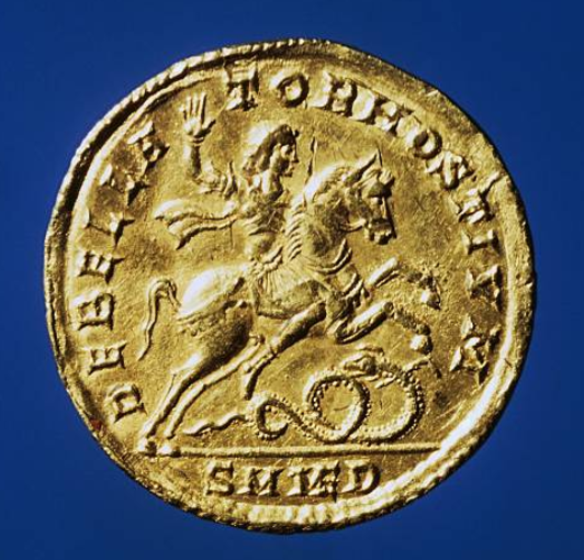 Gold medal of Constantius II, 334-361