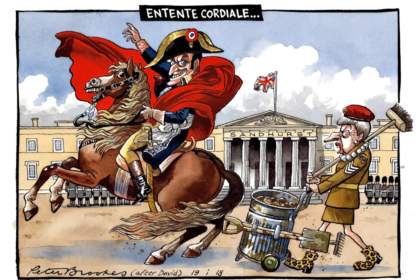 Entente cordiale, January 2018, Peter Brookes for 'The Times', Great Britain