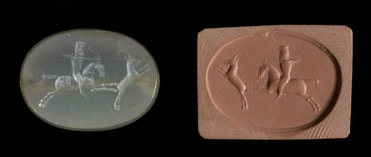 Stamp-seal depicting hunting, cr. 6th-4th century BC, Achaemenid (?)
