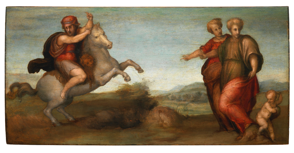 Marcus Curtius leaping into the abyss, 1513,  Jacopo Carucci, called Pontormo, Florence