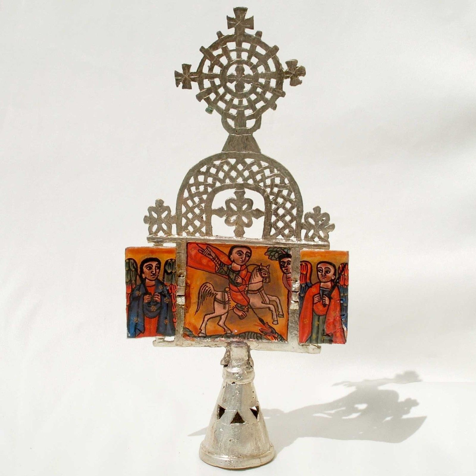 Ethiopian Coptic metal altar with the depiction of St. George,2010s, $75 off eBay