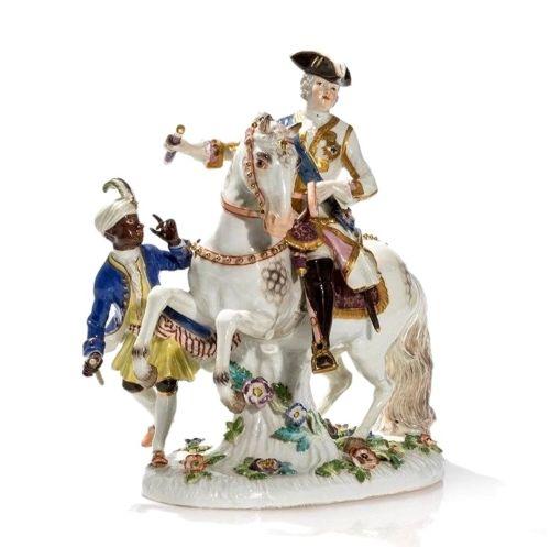 Empress Elisabeth of Russia on Horseback,after 1934, Johann Joachim Kaendler (after), Meissen, was on sale for $9900