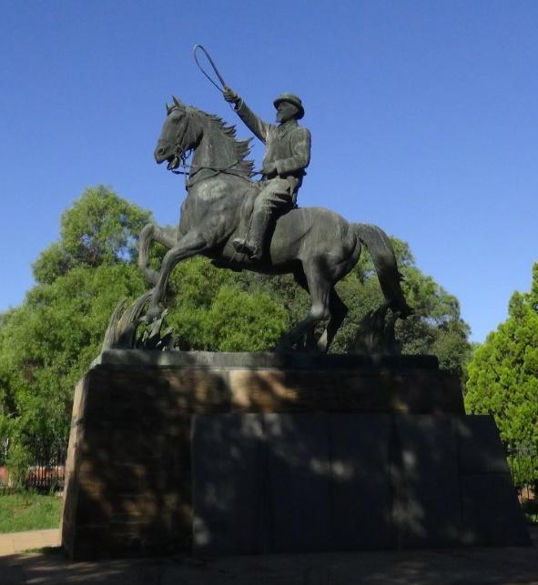 Statue of Christiaan de Wet, 1954, Coert Steynberg, Bloemfontein, Turkey