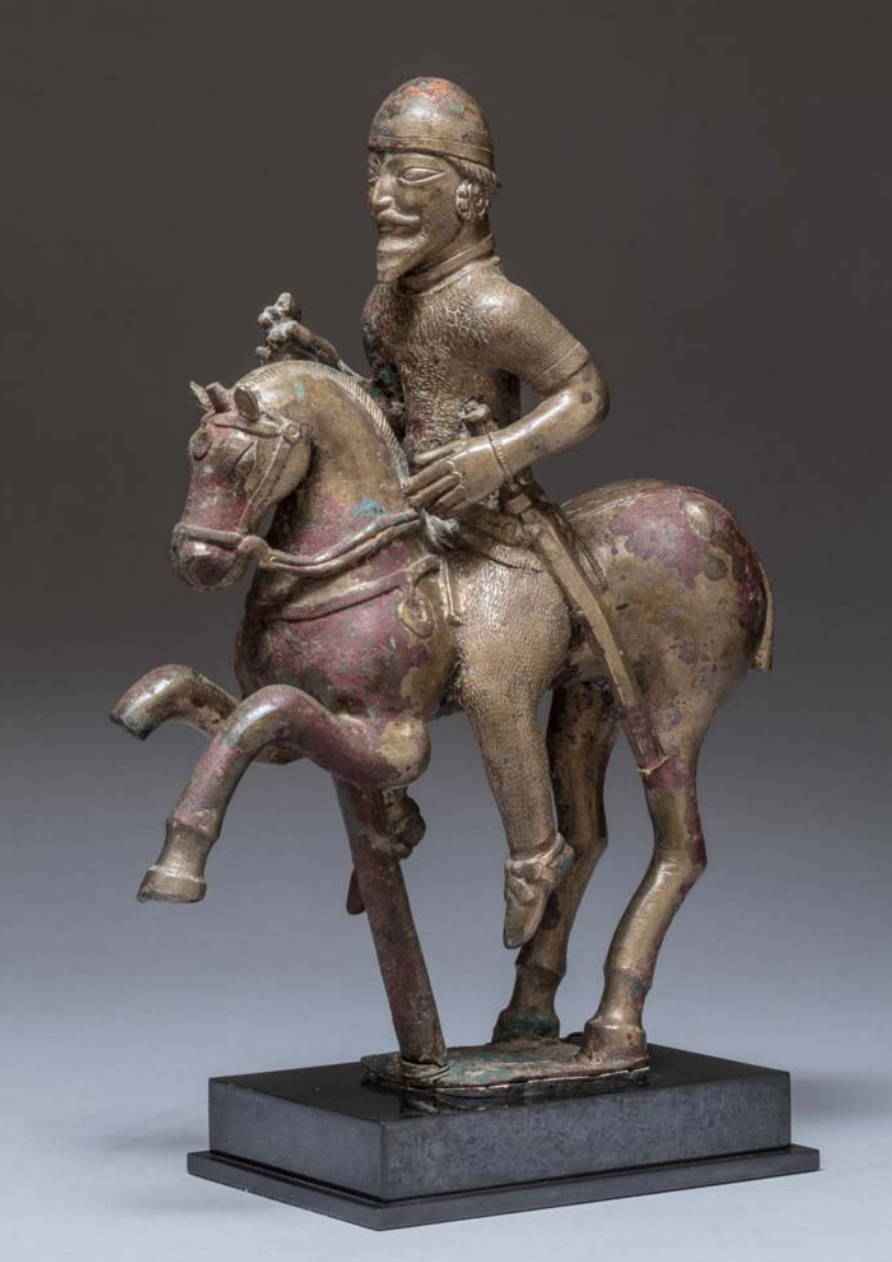 Sculpture of a horseman on a rearing horse, end of the 5th century, Alchon Hunnic, Northern Afghanistan