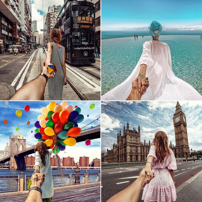 Selection of #FollowMeTo photos by Murad Osmann and Natalia Zahkarova