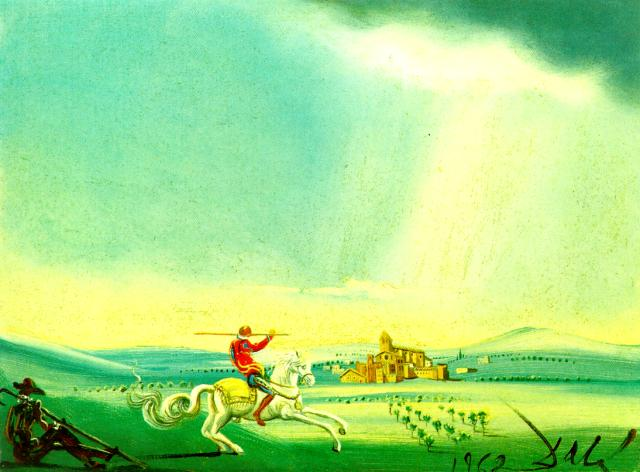 St. George and the Dragon, 1962, Salvador Dalí