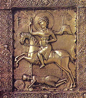 Silver-gilt icon of St.George, 11th century