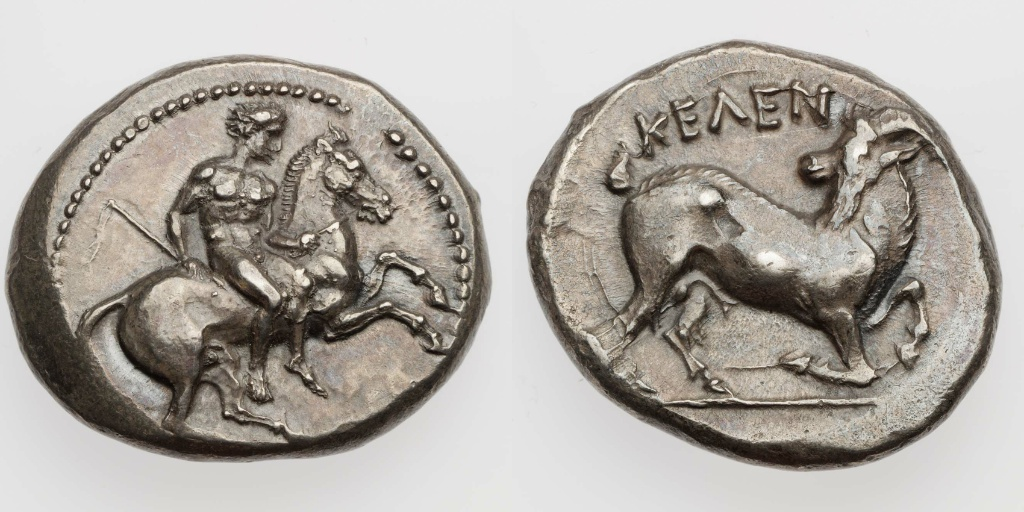 Stater with a youth riding horse,450–400 BC, Kelenderis, Cilicia