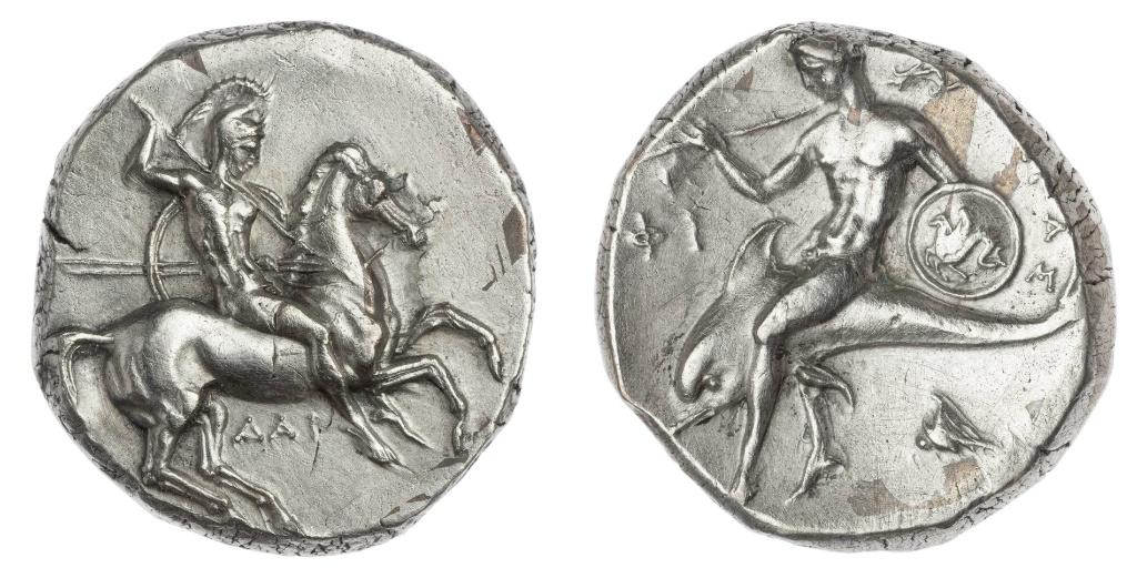 Stater,334–302 BC, Taras, Apulia