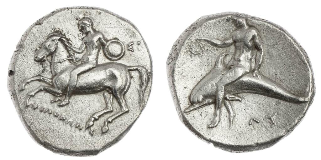 Stater struck under Philokles,302–281 BC, Taras, Apulia