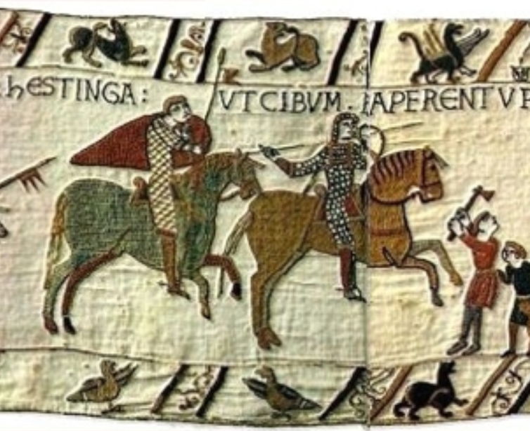 COMPARANDUM: Bayeux Tapestry, France, probably 1070s