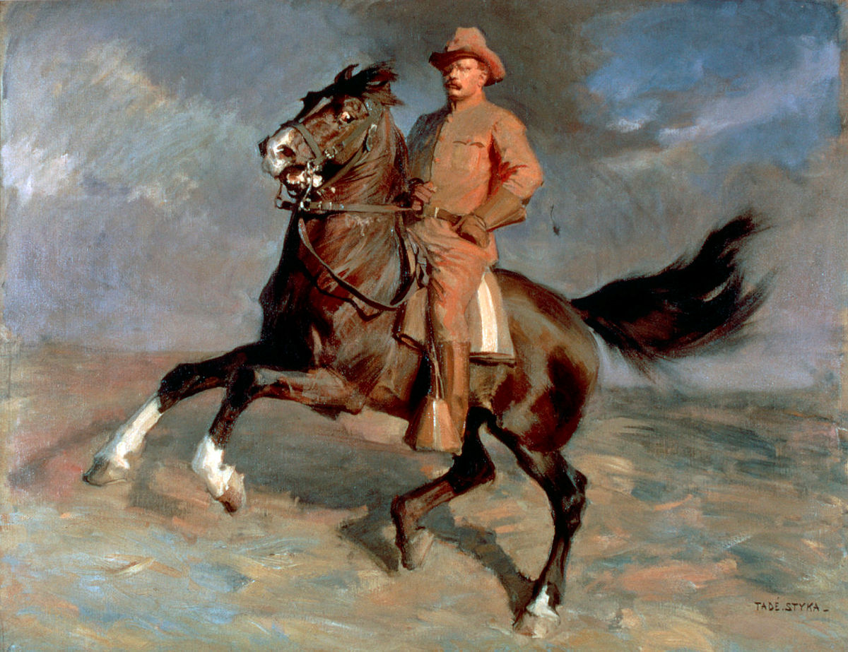 Theodore Roosevelt as a Rough Rider,cr. 1909, Tadé Styka
