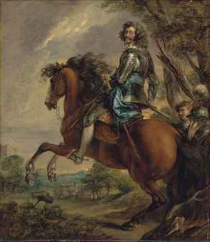 Equestrian portrait of the Duke of Arenberg (after Anthony van Dyck), 1742-88, Thomas Gainsborough, England