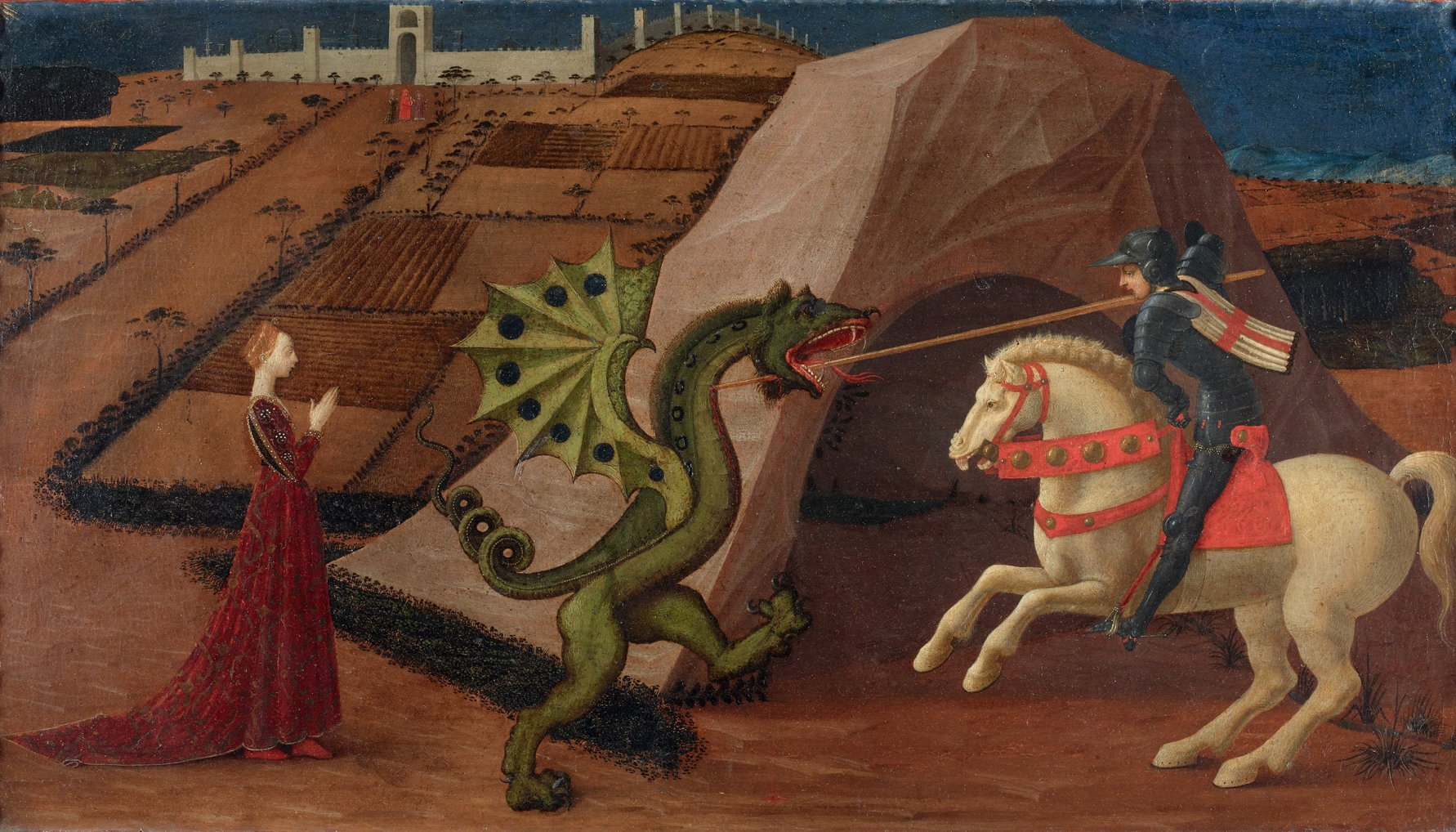 St. George and the Dragon, cr. 1430-35, Paolo Uccello, Florence, Italy