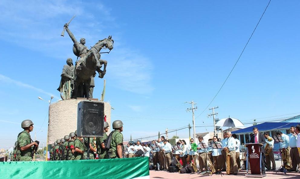 Statue of Emiliano Zapata, ?, Soledad de Graciano Sánchez, Mexico