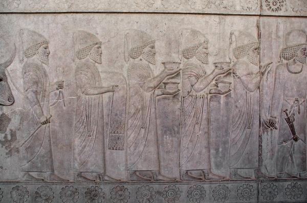 Babylonian Tribute Bearers, 520 - 486 BC, Apadana Staircase, Persepolis, Iran