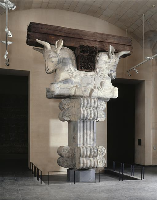 Capital of a column from the Apadana, cr. 510 BC, Palace of Darius I, Susa, Persia, now Iran