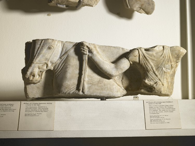 Fragment of a marble frieze, Temple of Artemis, 550-510BC, Ephesus, Ionia (now Anatolia, Turkey)