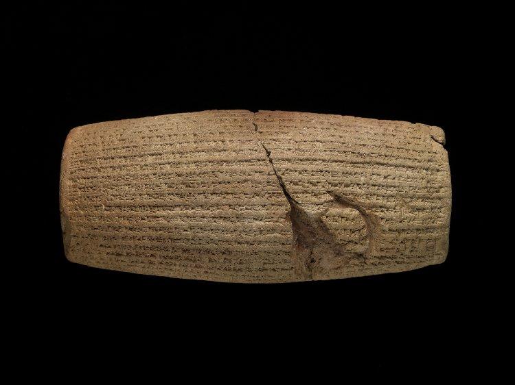 The Cyrus Cylinder, after 539BC, Babylon (now Amran, modern Yemen)