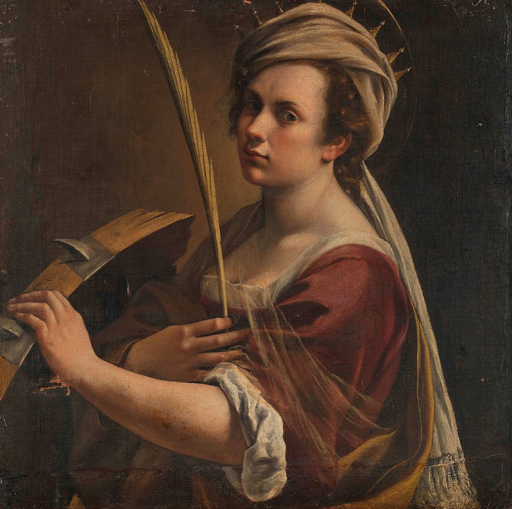 Self-Portrait as Saint Catherine of Alexandria, cr. 1616, Artemisia Gentileschi, Italy