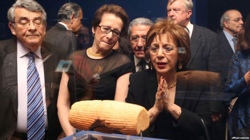 The Cyrus Cylinder U.S.A. tour launch event, 2013, Washington