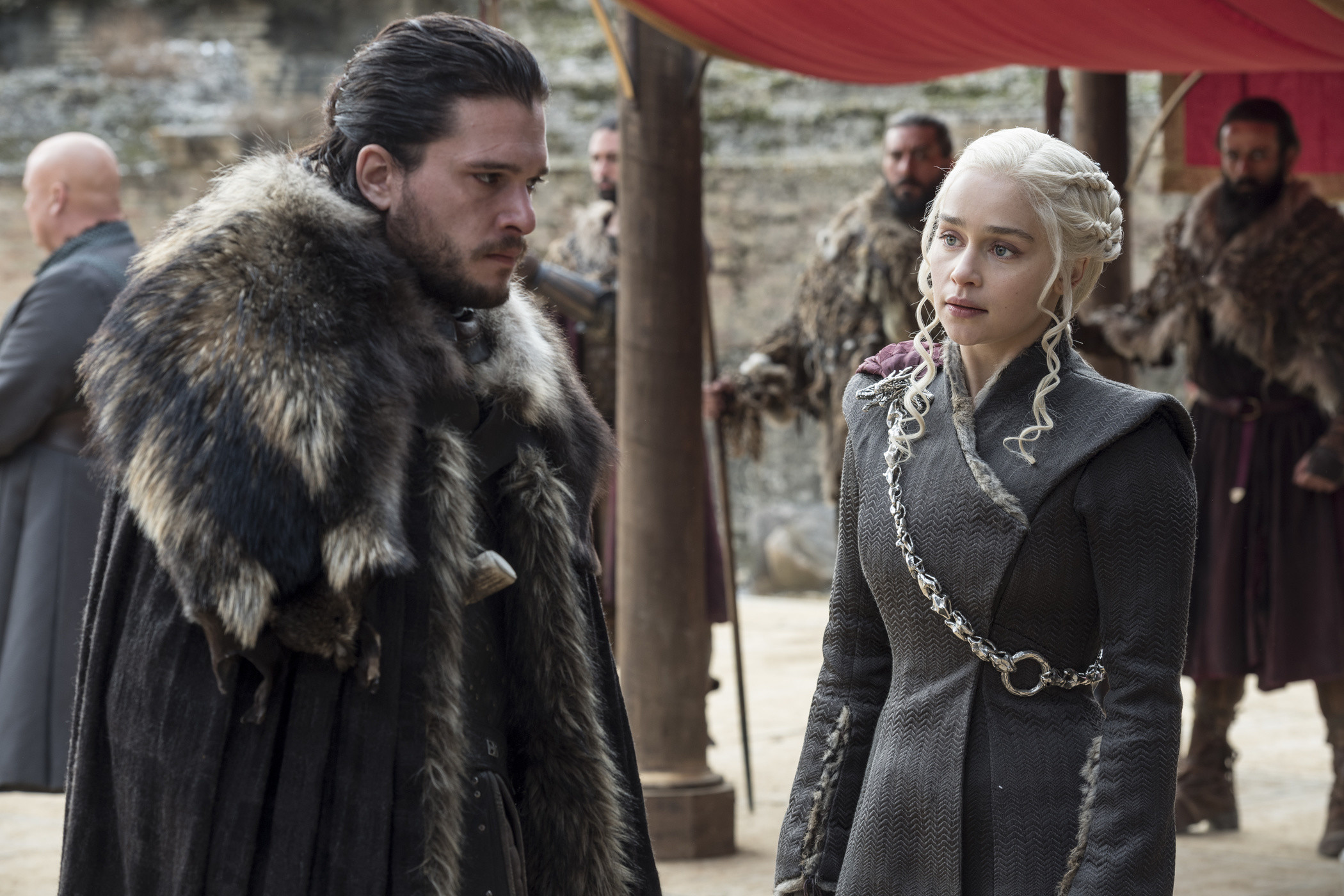 Jon Snow and his aunt and partner Daenerys Targaryen, The Game of Thrones, season 7