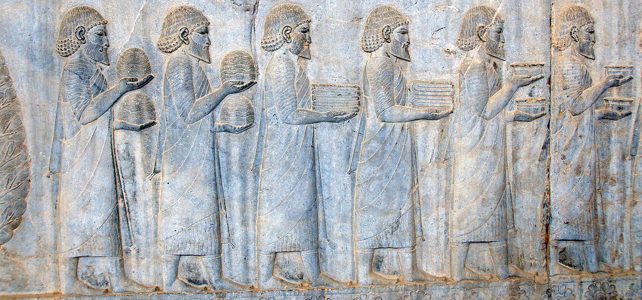 Ionian Tribute Bearers, 520 - 486 BC, Apadana Staircase, Persepolis, Iran