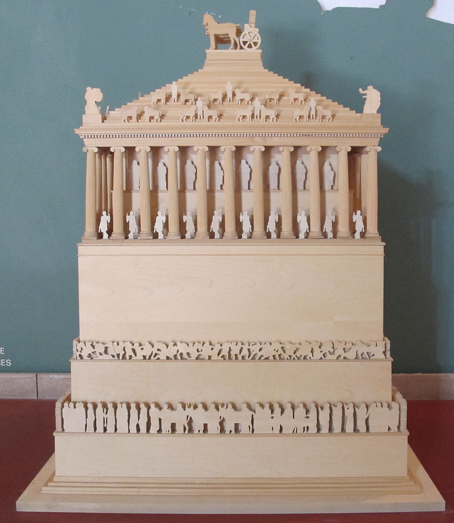 Model of the Mausoleum at Halicarnassus, Bodrum Museum of Underwater Archaeology