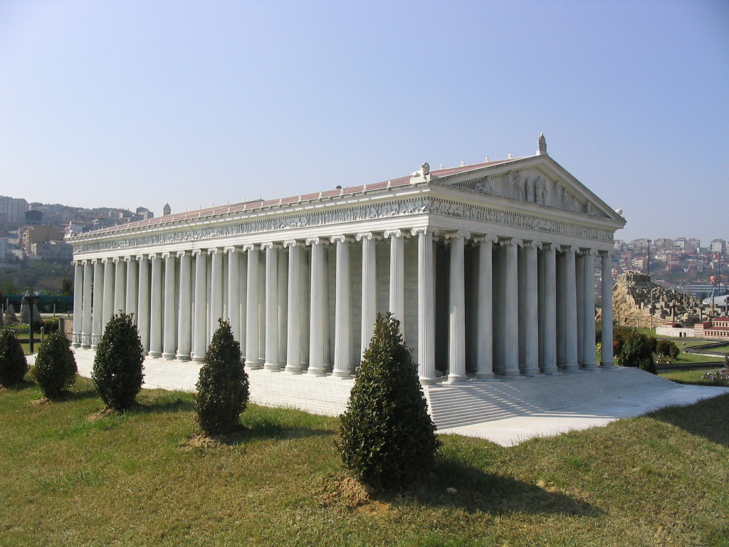 Modern model of the Third Temple of Artemis, Miniatürk Park, Istanbul, Turkey
