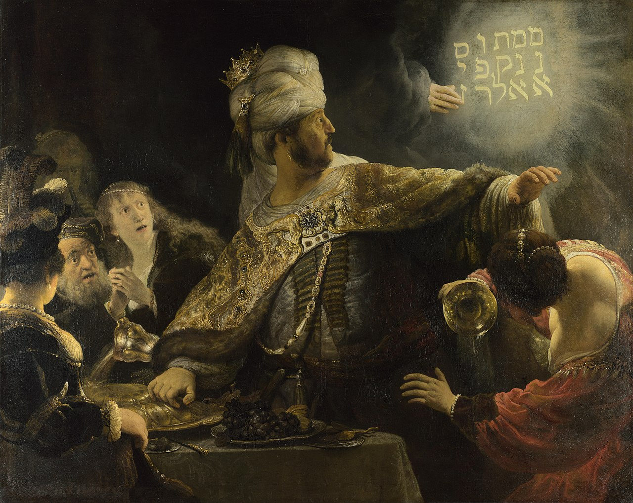 Belshazzar's Feast, cr. 1635-8, Rembrandt