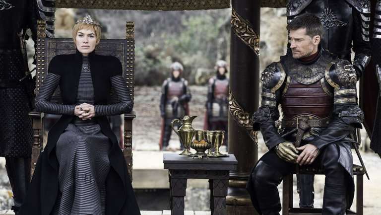 Cersei and her brother and partner Jaime Lannister, The Game of Thrones, season 7