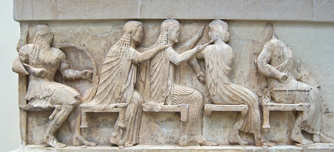 Frieze of Siphnian Treasury, cr.  525 BC, Delphi, Greece